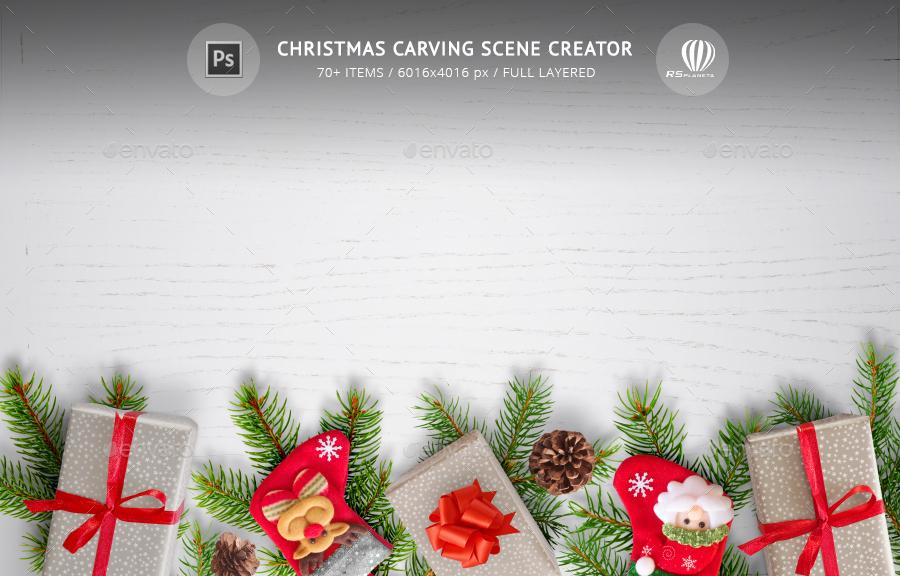 christmas carving scene creator by rsplaneta