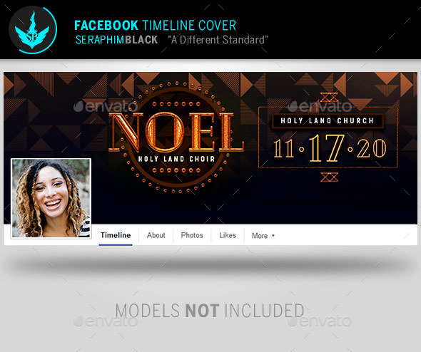Noel Christmas Gala Facebook Timeline Cover Template - Facebook Timeline Covers Social Media
