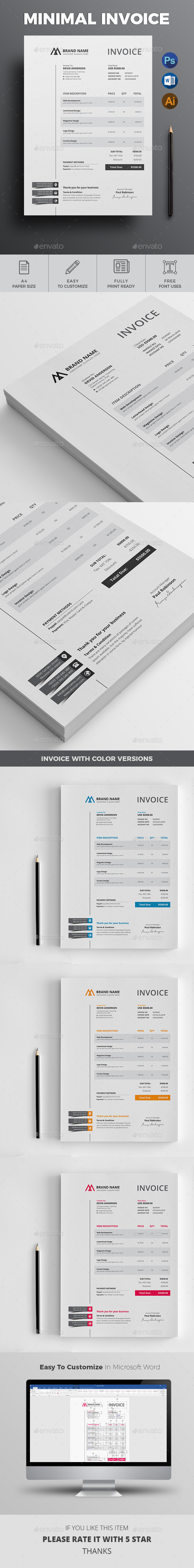 GraphicRiver Invoice 21112663