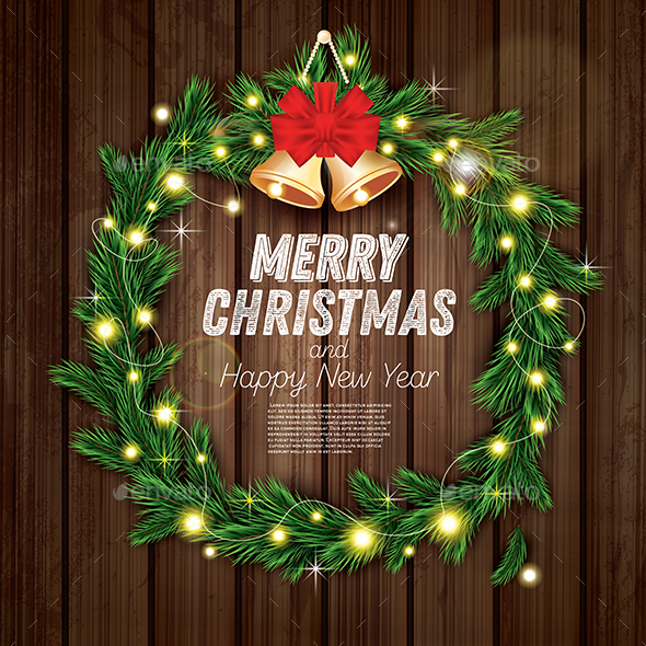 GraphicRiver Christmas Wreath 21112672