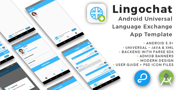 Lingochat | Android Universal Language Exchange Chat App Template - CodeCanyon Item for Sale