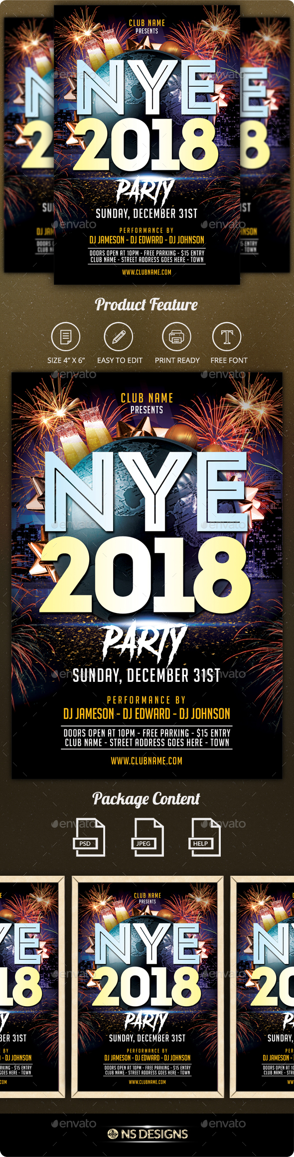 GraphicRiver New Year Flyer 21112845