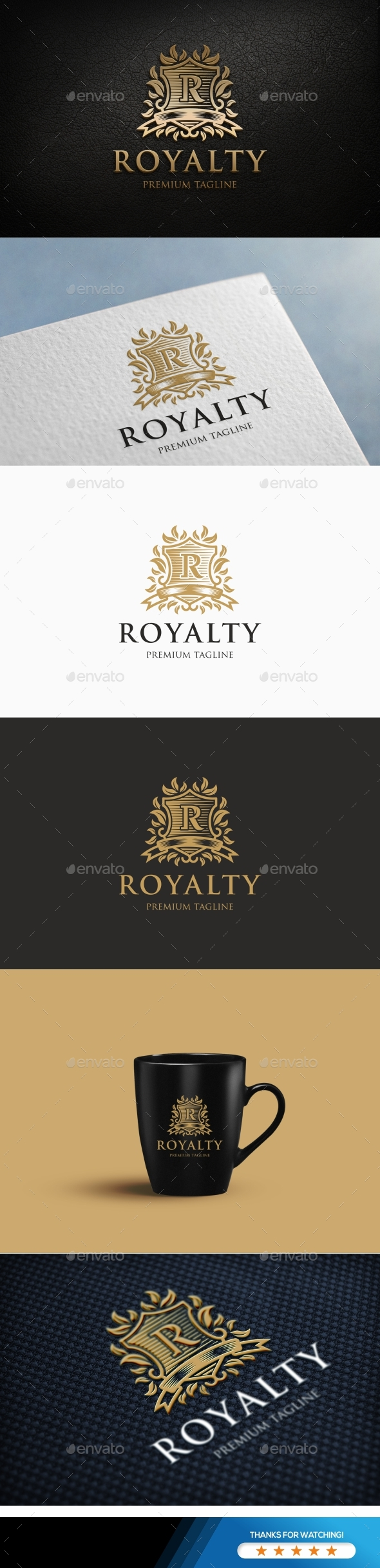 Royalty Logo Template - Letters Logo Templates