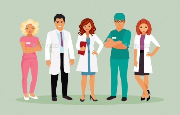 Medical Staff Vector - Health/Medicine Conceptual