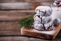 Chocolate crinkle cookies with powdered sugar icing for christmas - PhotoDune Item for Sale