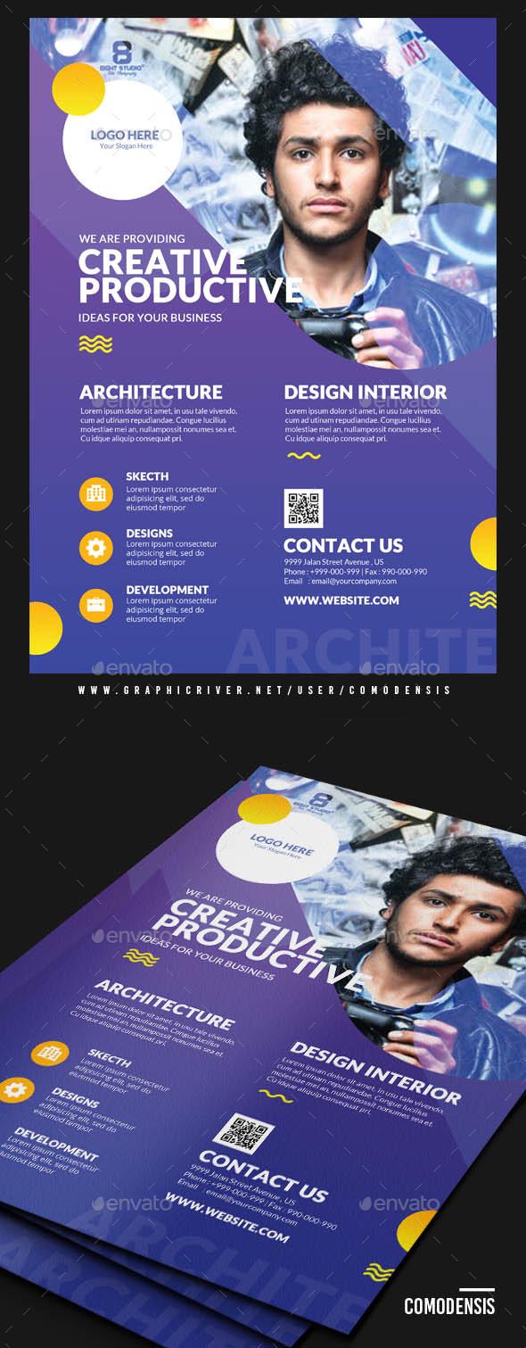 GraphicRiver creative corporate flyer 21112940