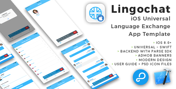 Lingochat | iOS Universal Language Exchange Chat App Template (Swift) - CodeCanyon Item for Sale