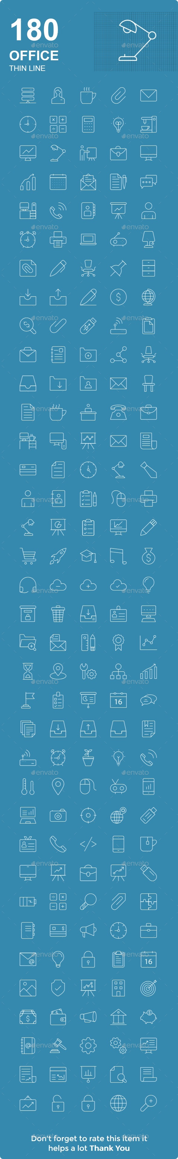 Office Thin Line - Web Icons