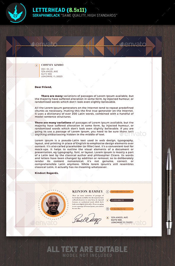 GraphicRiver Art Deco Church Letterhead Template 21113243