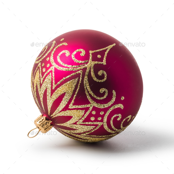 red christmas bal - Stock Photo - Images