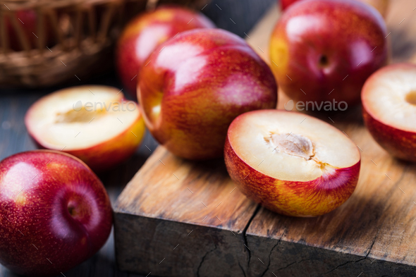 plum fruit - Stock Photo - Images