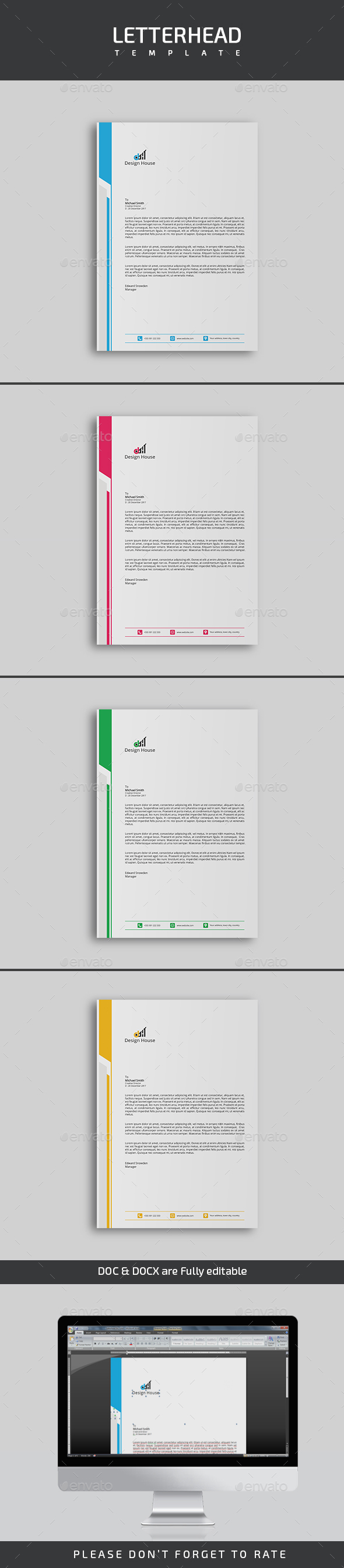 GraphicRiver Letterhead Template 21113404