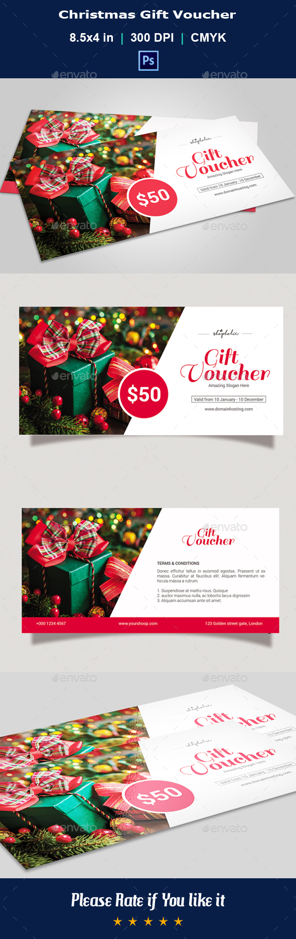 GraphicRiver Christmas Gift Voucher V04 21113537