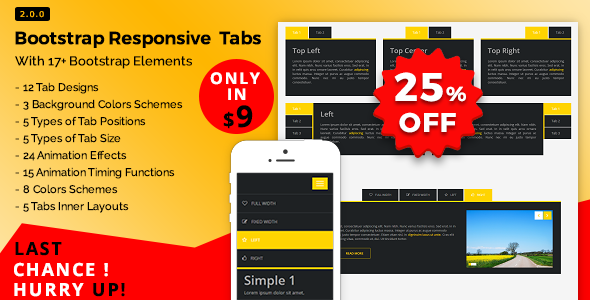 Bootstrap Responsive Tabs - CodeCanyon Item for Sale