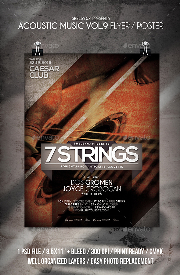 GraphicRiver Acoustic Music Flyer Poster Vol 9 21113688