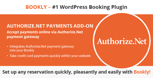 Bookly Authorize.Net (Add-on) - CodeCanyon Item for Sale