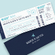 Boarding Pass Wedding Invitation Ticket - GraphicRiver Item for Sale