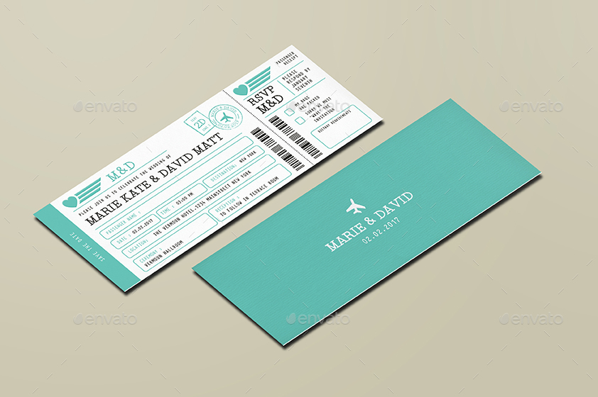 Invitation Ticket Boarding Pass Wedding Invitation Ticketvector_Vactory .