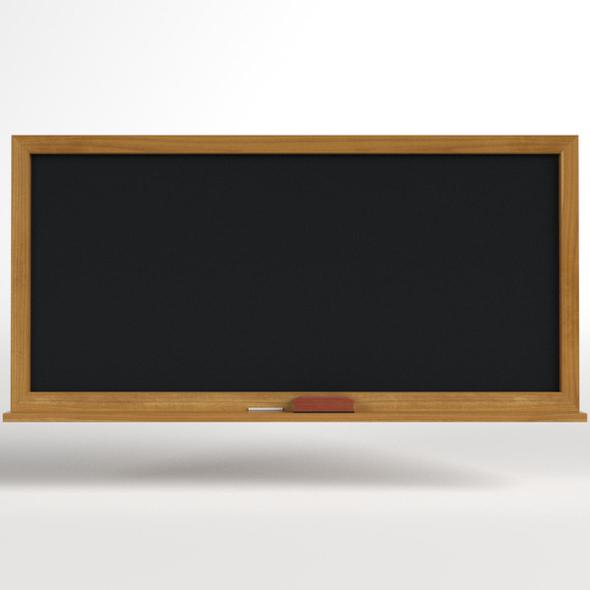 School Classroom Chalkboard - 3DOcean Item for Sale