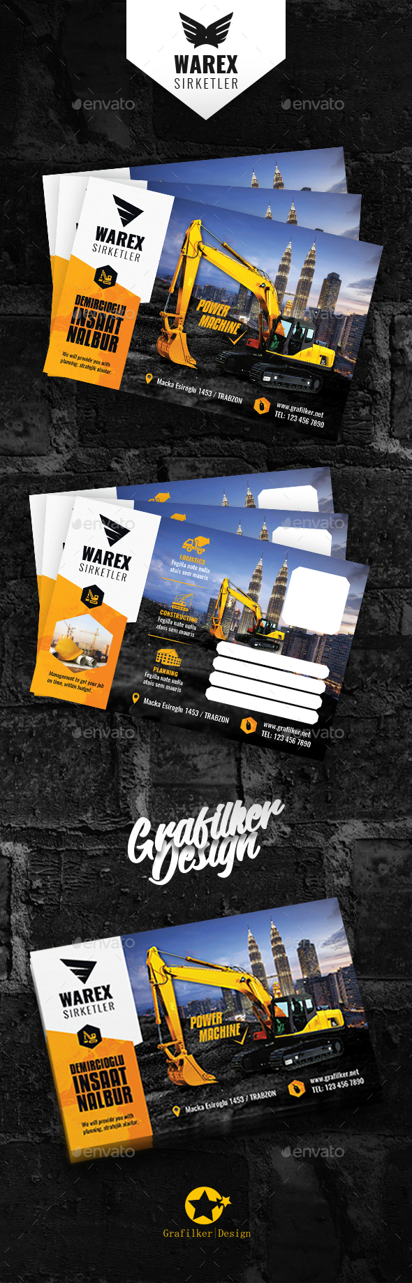 GraphicRiver Construction Postcard Templates 21114084