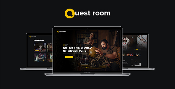 Quest Room - Creative Escape / Quest Room OnePage WordPress Theme with Booking system included - Creative WordPress