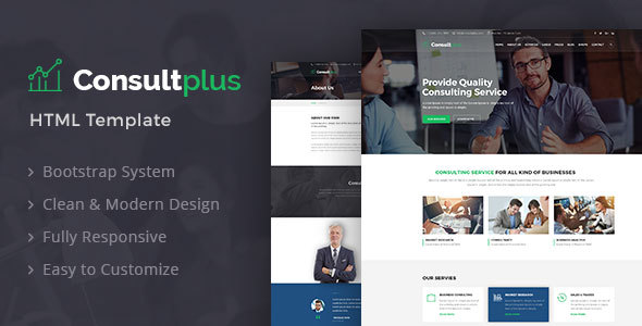Image of Consultplus : Business Consulting HTML Template