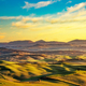 Volterra winter panorama, rolling hills and green fields on suns - PhotoDune Item for Sale