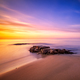 Rocks in Cala Violina beach in Maremma on sunset, Tuscany. Medit - PhotoDune Item for Sale