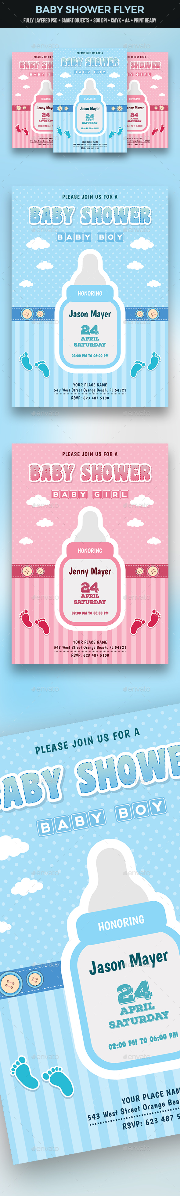 GraphicRiver Baby Shower Flyer 21114292