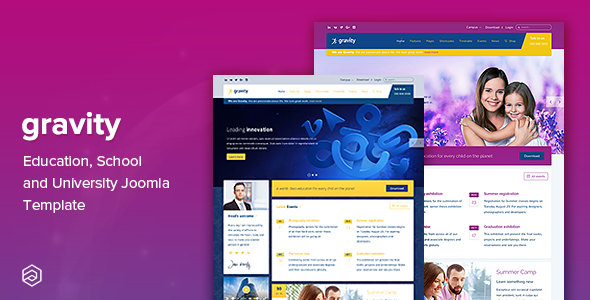 Image of Gravity - Education, School and University Joomla Template