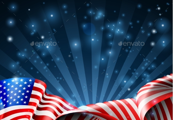 GraphicRiver American Flag Patriotic or Political Design 21114370