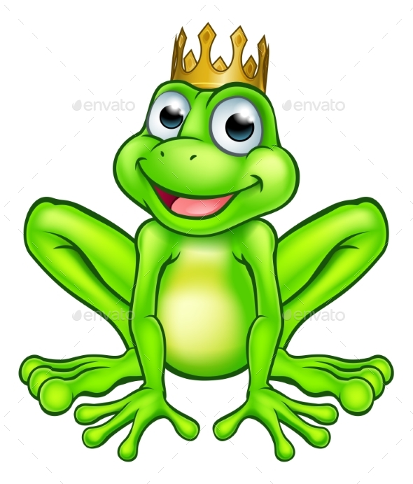 GraphicRiver Cartoon Frog Prince 21114382