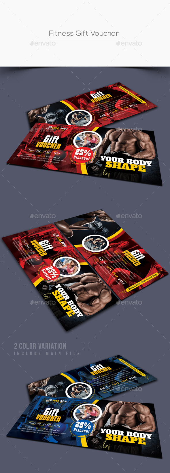 GraphicRiver Fitness Gift Voucher 21114398