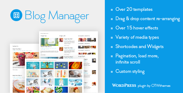 Blog Manager for WordPress - CodeCanyon Item for Sale
