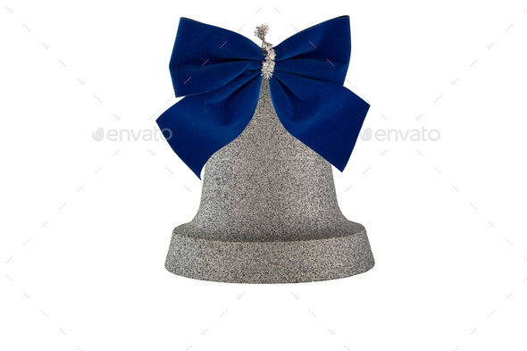 Bell with a bow - Stock Photo - Images