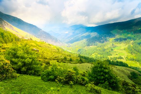 Himalayan mountains - Stock Photo - Images