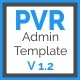 PVR - Multipurpose Bootstrap Admin Dashboard Template