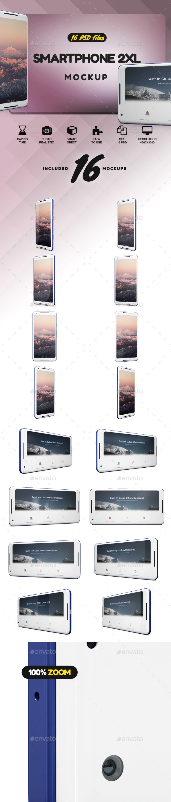 SmartPhone XL 2 App Mockup - Mobile Displays