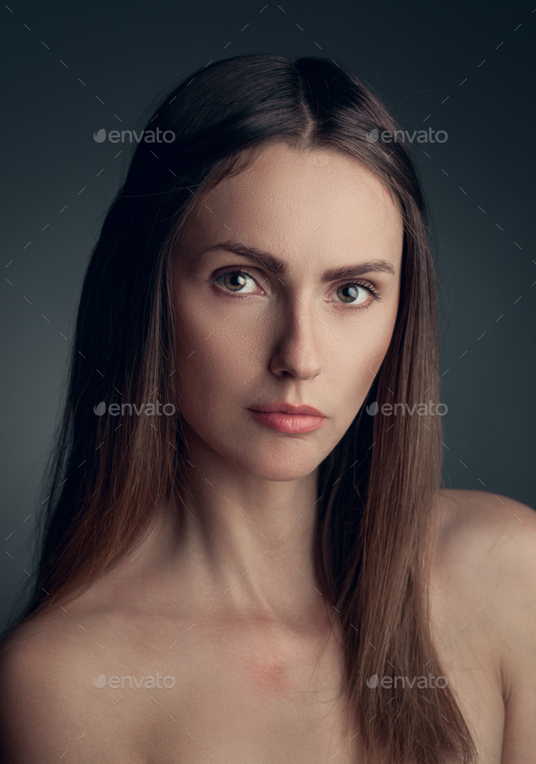 portrait of young woman - Stock Photo - Images