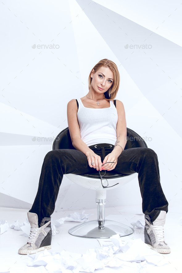 Young creative woman - Stock Photo - Images