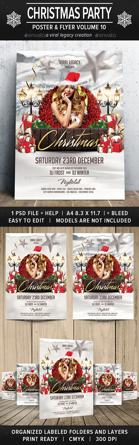 Christmas Party Poster / Flyer V10 - Flyers Print Templates