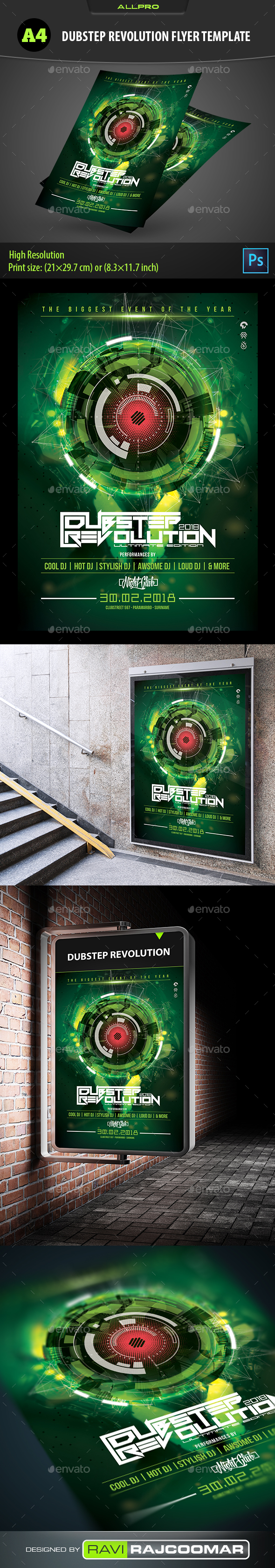 GraphicRiver Dubstep Revolution Flyer Template 21111614