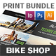 Bicycle Shop Print Bundle - GraphicRiver Item for Sale