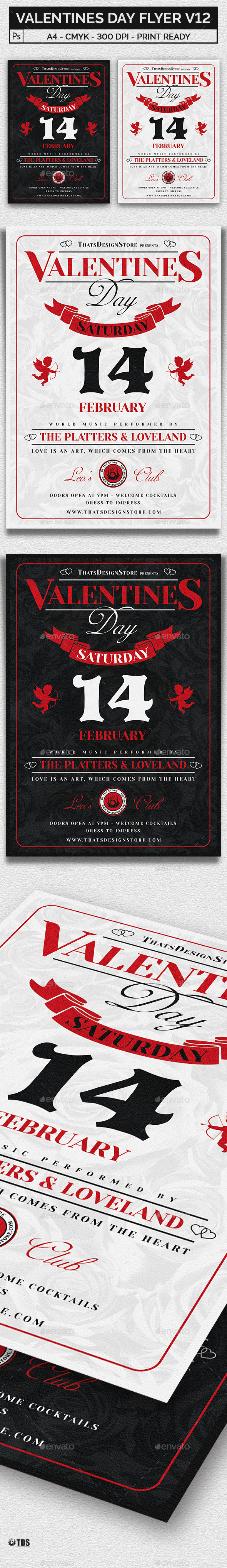 Valentines Day Flyer Template V12 - Clubs & Parties Events