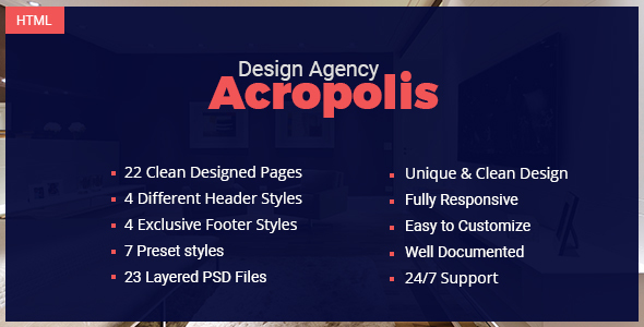 Acropolis - Creative Interior Design Agency Template - Business Corporate