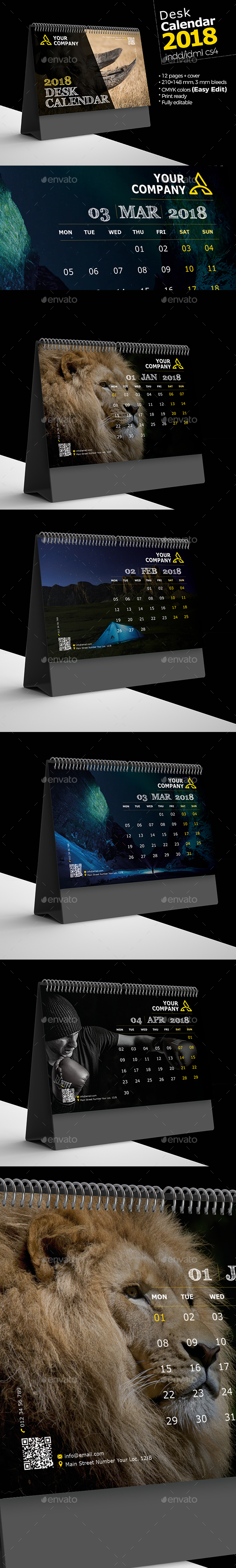 GraphicRiver Desk Calendar 2018 21115162