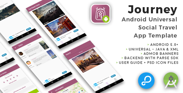 Journey | Android Universal Social Travel App Template - CodeCanyon Item for Sale