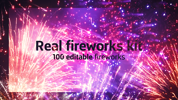 VideoHive Real Fireworks Kit 21058842