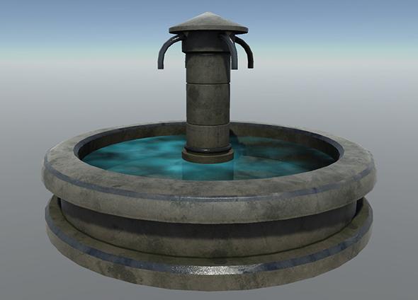 3DOcean Fountain Set 2 21108039