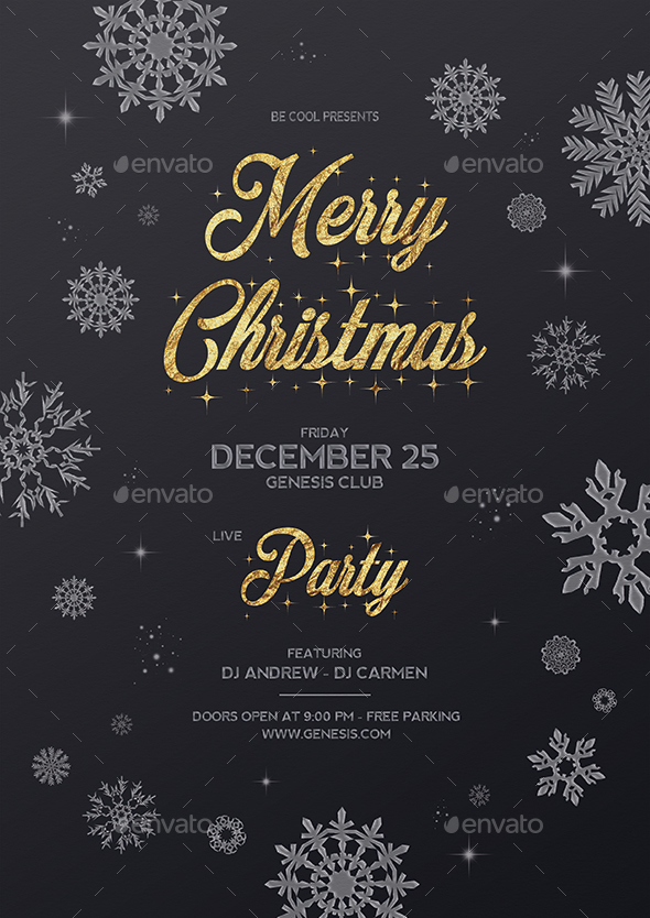 GraphicRiver Christmas Party Flyer Poster 21115293